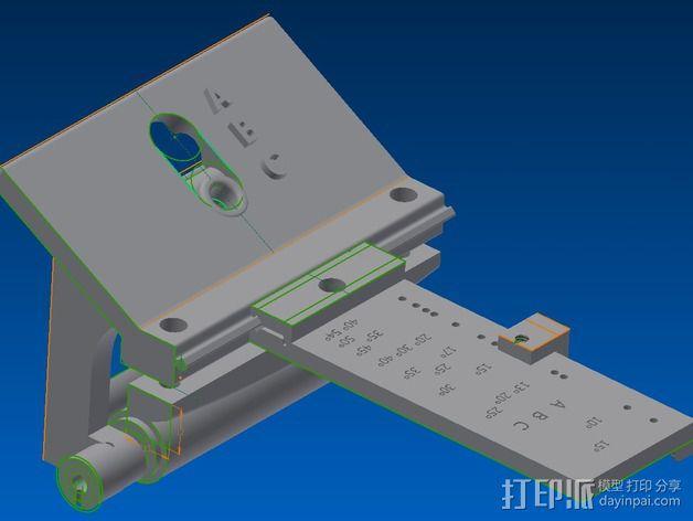磨刀架 3D模型  图1
