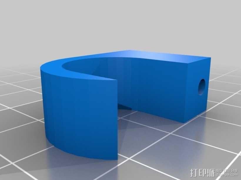 参数化电缆夹 3D模型  图1