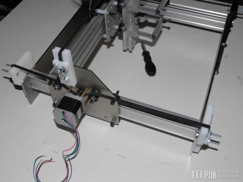 shapeoko X轴皮带夹 3D模型  图2