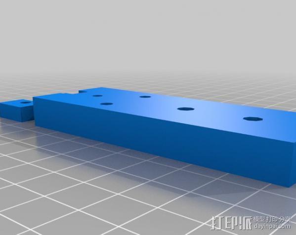 shapeoko X轴皮带夹 3D模型  图3