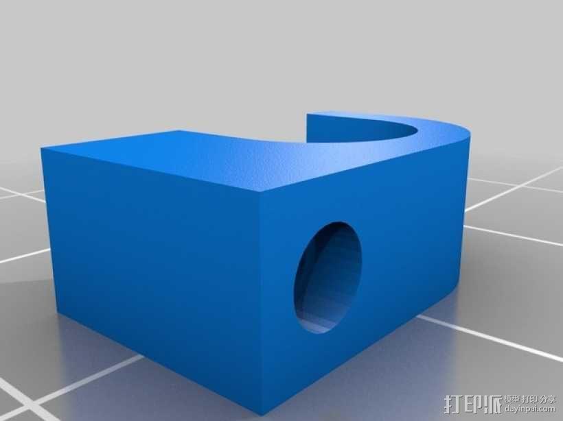 电缆固定架 3D模型  图2