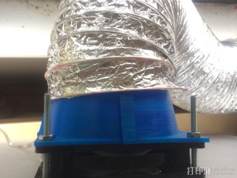 风扇管道配适器 3D模型  图1