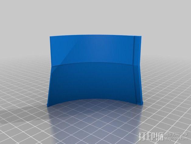 风扇管道配适器 3D模型  图2
