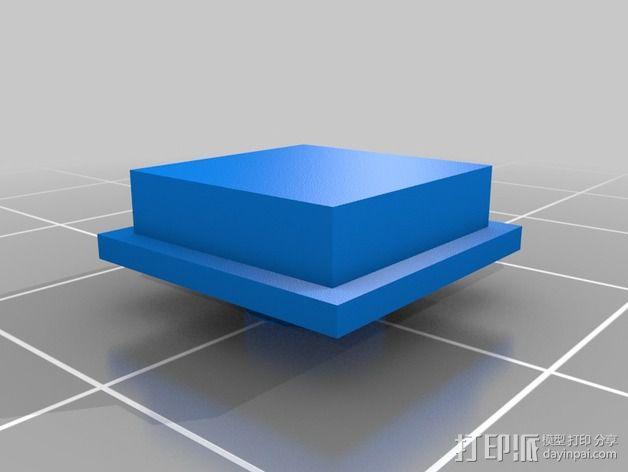 机械键盘 按键  3D模型  图3