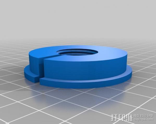 Dremel电钻钻床配适器 3D模型  图1