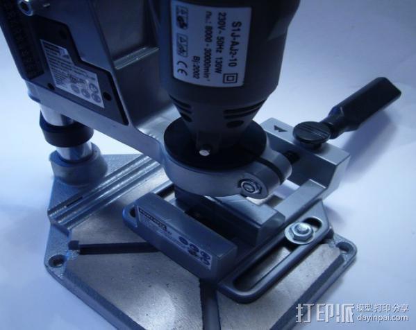 Dremel电钻钻床配适器 3D模型  图2