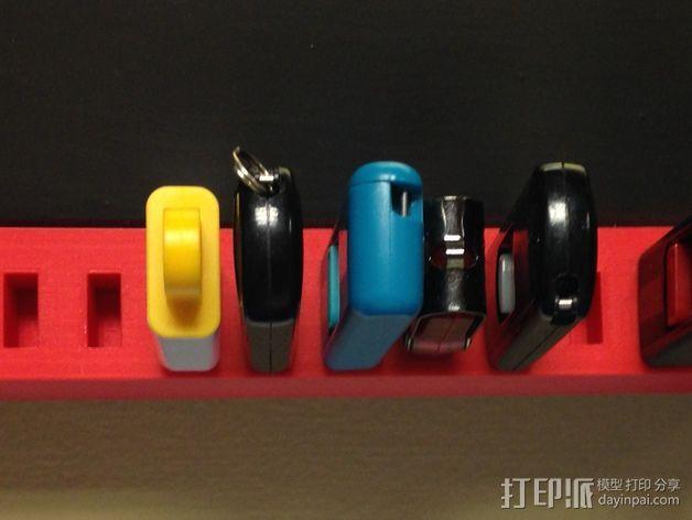 壁挂式USB架 3D模型  图1