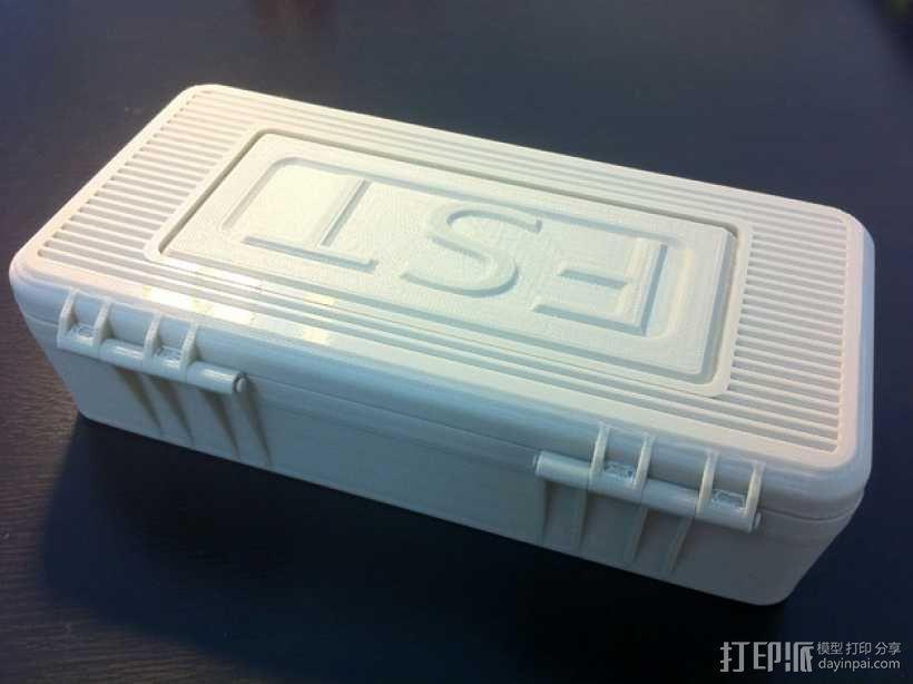 电子器件收纳箱 3D模型  图2