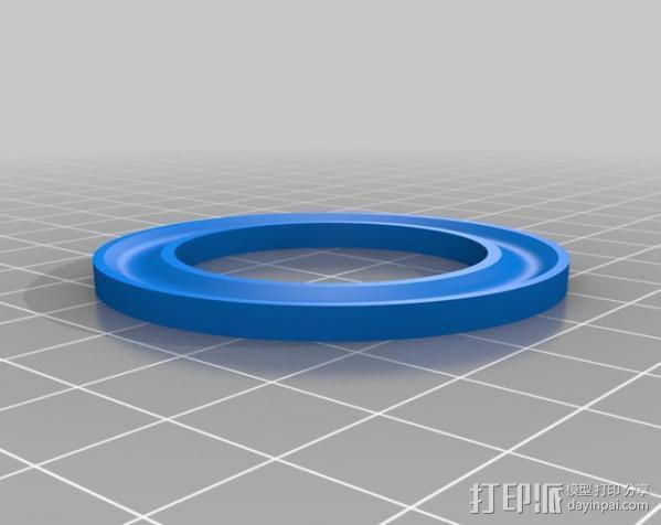 轴向推力球轴承 3D模型  图3