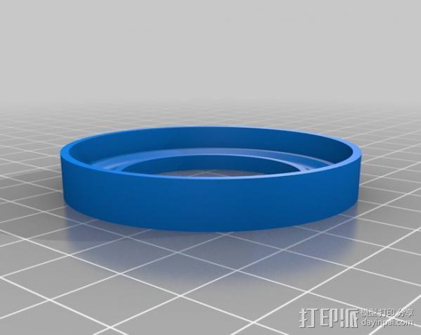 轴向推力球轴承 3D模型  图2