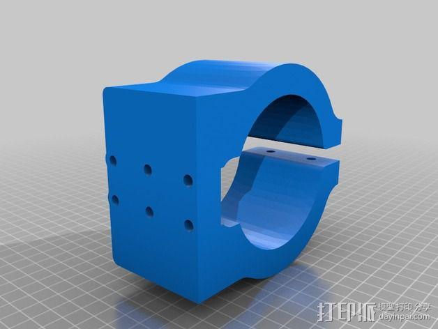 Shapeoko2主轴托架 3D模型  图2
