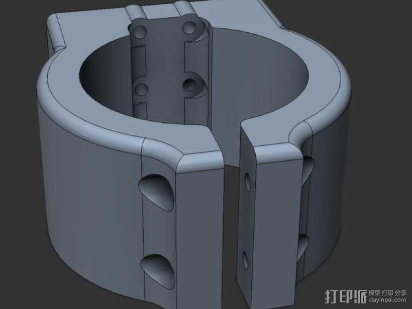 Shapeoko2主轴托架 3D模型  图1
