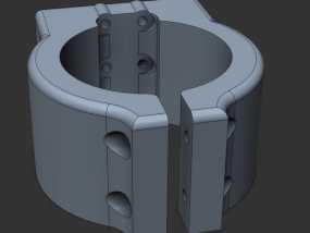 Shapeoko2主轴托架 3D模型