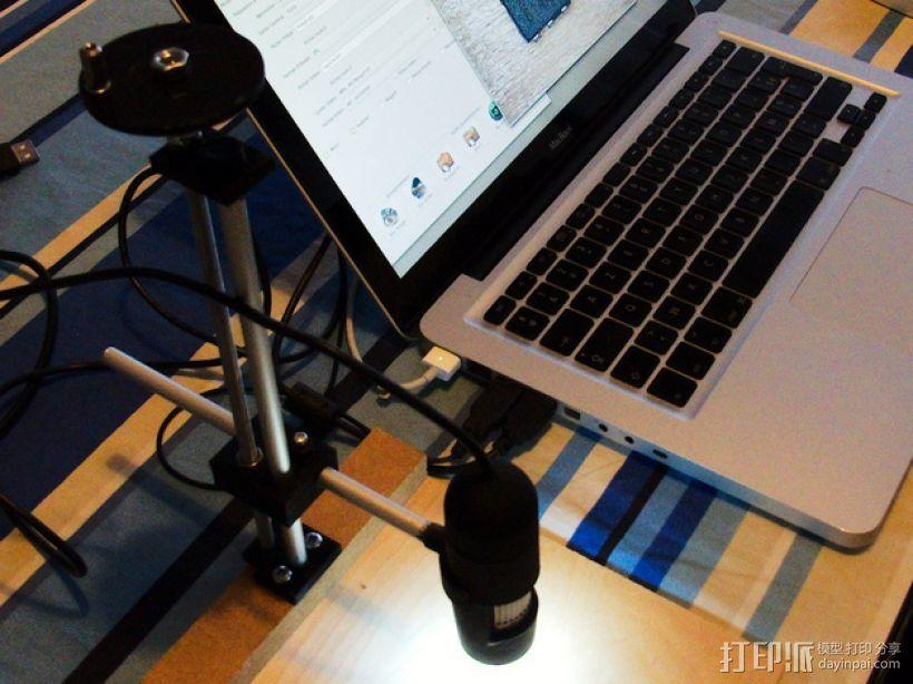Adafruit USB显微镜支架 3D模型  图5