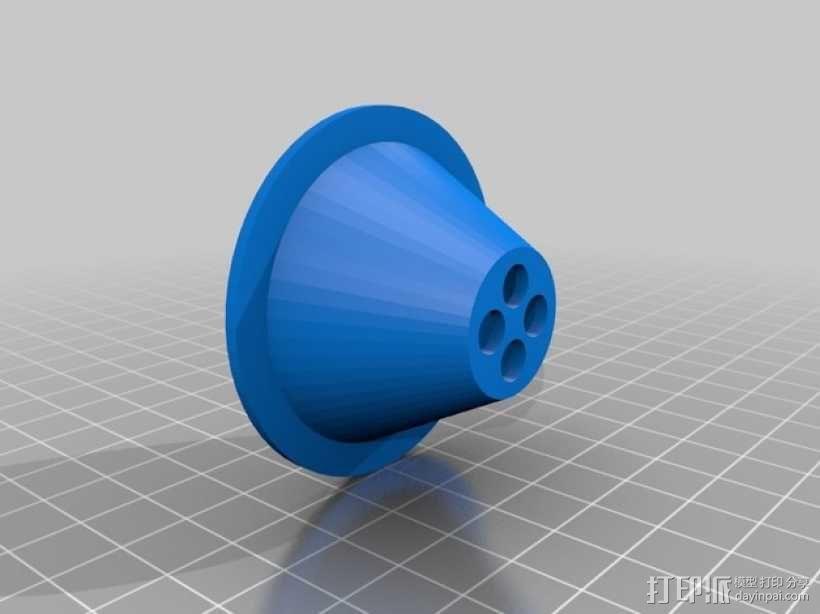 手电筒 3D模型  图3