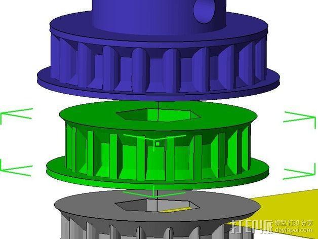 参数化正时带轮  3D模型  图1