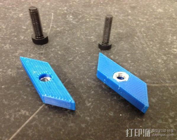 自调整T形螺母 3D模型  图6