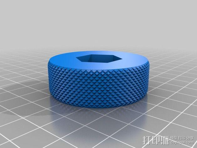 翼形螺帽 3D模型  图2