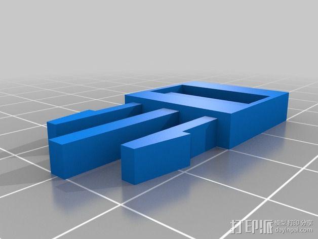 Yukon带扣 3D模型  图1