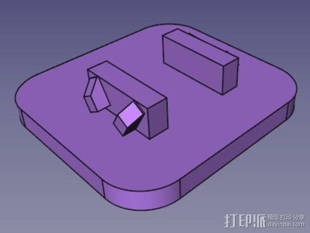 牵引链保护盖 3D模型  图3