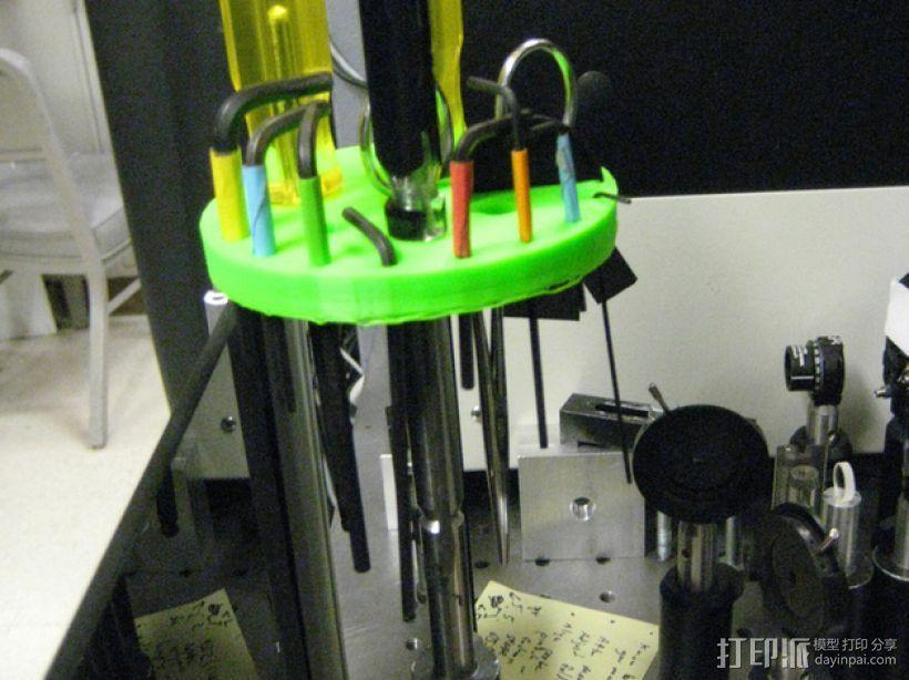 圆形工具架 3D模型  图3