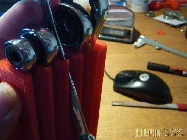 棘轮扳手 工具架 3D模型  图3