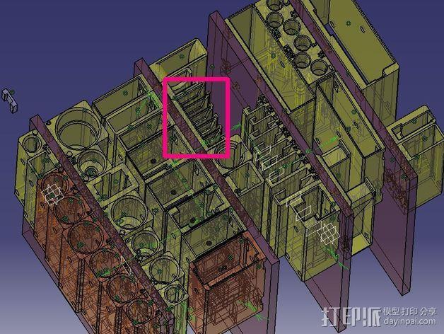 棘轮扳手 工具架 3D模型  图6