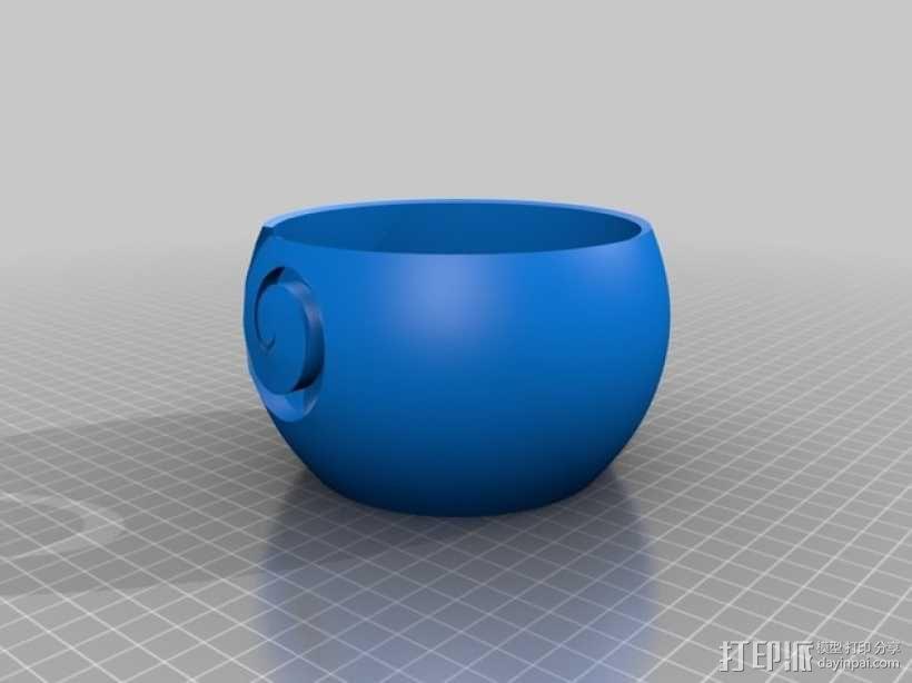 纺织 纱碗 3D模型  图2