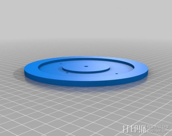 拉杆转盘 3D模型  图8