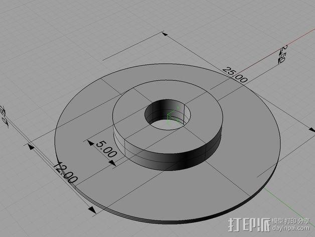 拉杆转盘 3D模型  图12