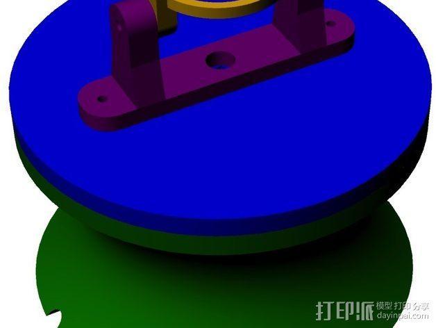 拉杆转盘 3D模型  图13