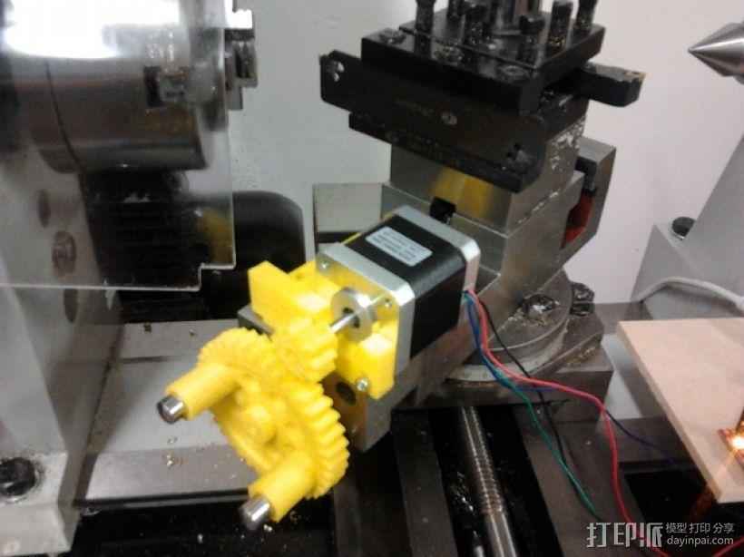 CNC数控车床零部件 3D模型  图1