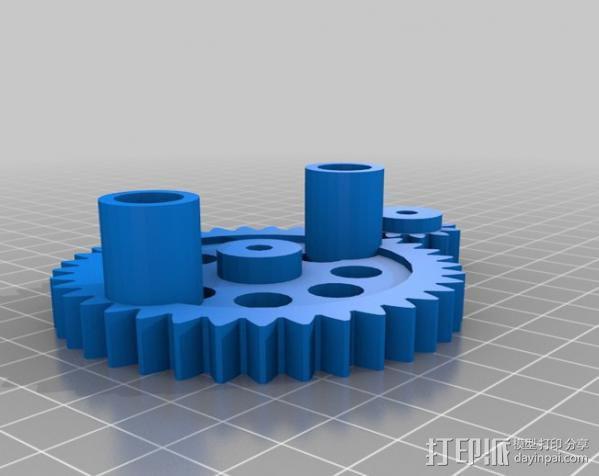 CNC数控车床零部件 3D模型  图3