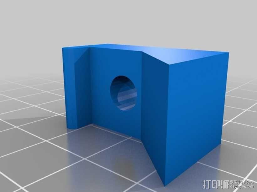 车床 针盘指示器固定夹 3D模型  图2