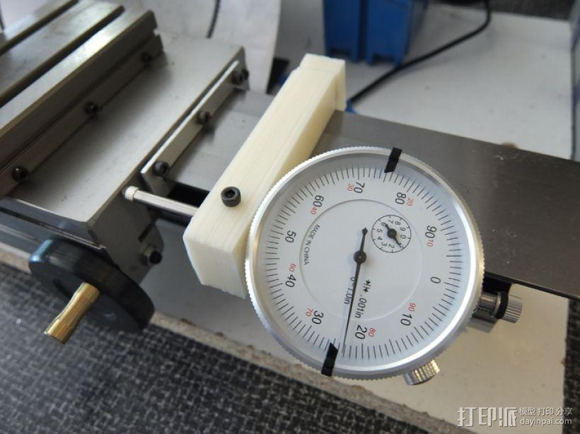 车床 针盘指示器固定夹 3D模型  图1