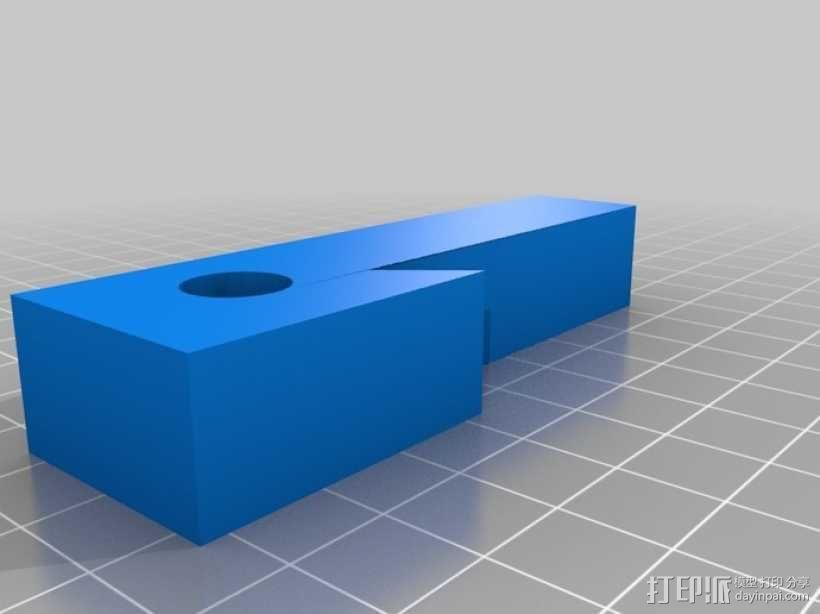 车床 针盘指示器固定夹 3D模型  图3