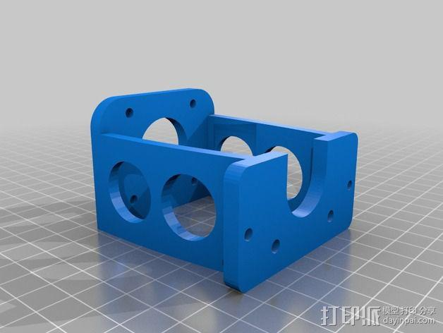 nema 步进电机固定架 3D模型  图2