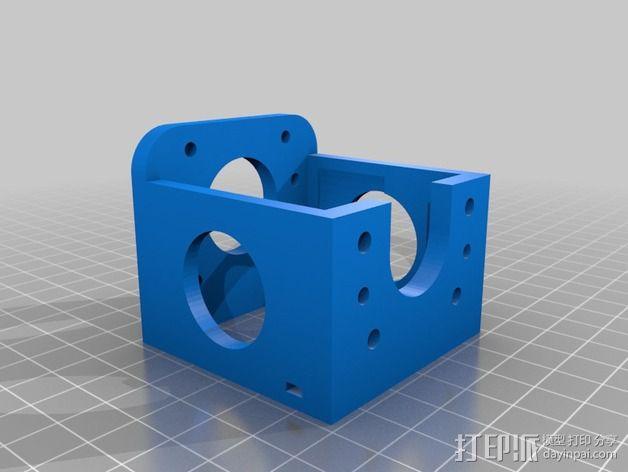 nema 步进电机固定架 3D模型  图3