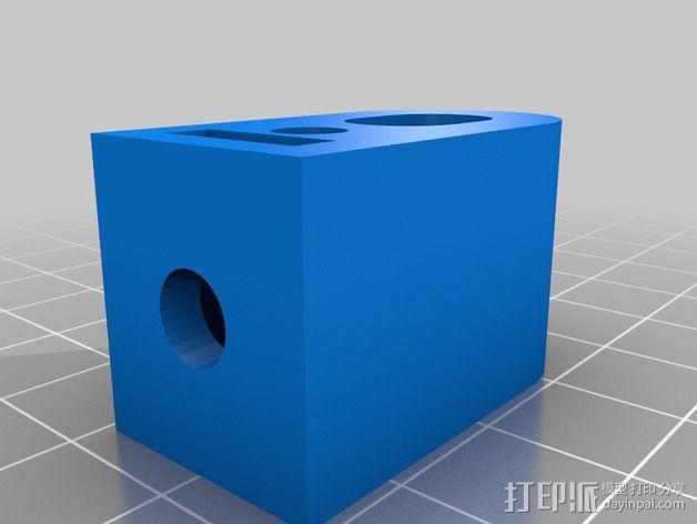 nema 步进电机固定架 3D模型  图4