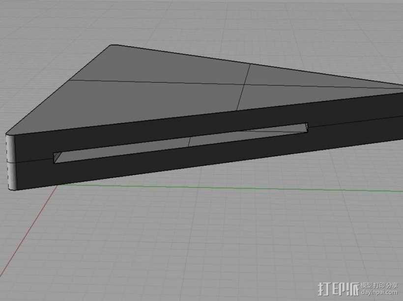 美工刀刀片更换装置 3D模型  图3