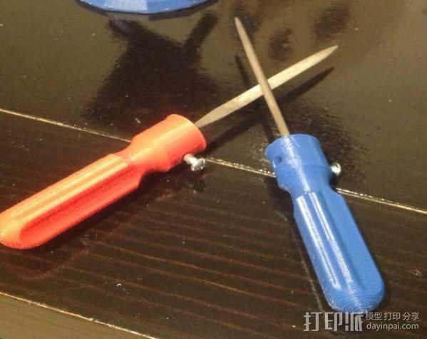 锉刀把手 3D模型  图1