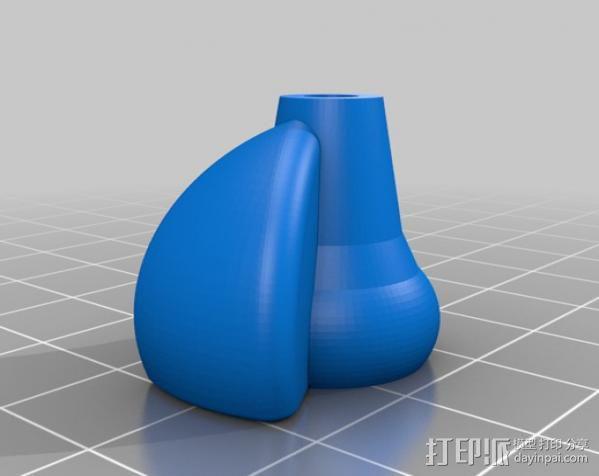 CNC弥雾喷嘴 3D模型  图1