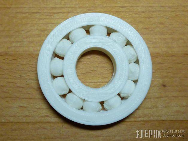 参数化滚珠轴承  3D模型  图1