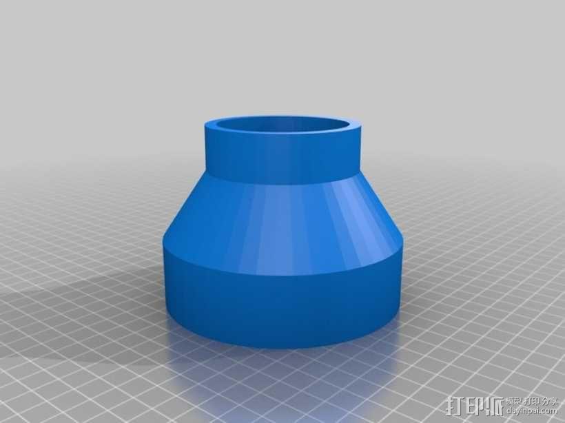 带锯机防尘接口 3D模型  图1