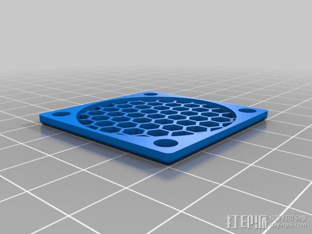 40毫米风扇罩 3D模型  图1