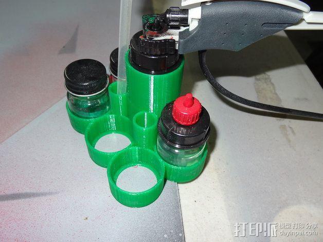 喷漆器收纳架 3D模型  图1
