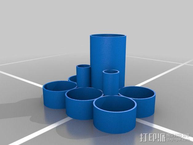喷漆器收纳架 3D模型  图2