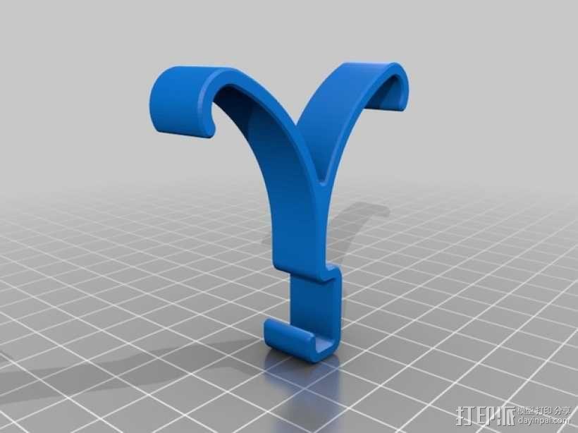 双头耳机架 3D模型  图2