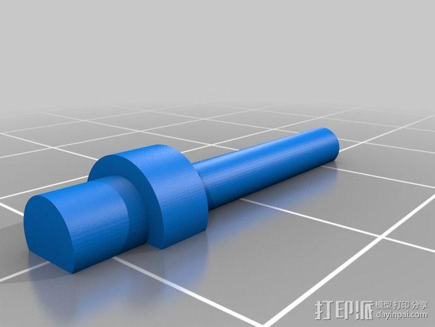 空心铆钉 3D模型  图1