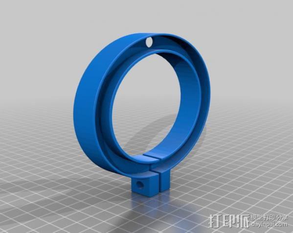 G0704/TM20VL铣床主轴LED照明环 3D模型  图2